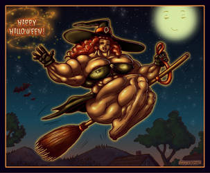 1810 Happy Halloween by Jennysartwork