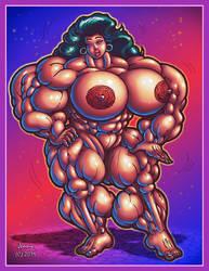 1905 Muscle Goddess by Jennysartwork