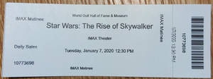 Ticket to STAR WARS Episode IX and Review