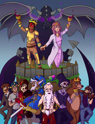 Lords Of Minecraft - Poster by TanyaTanypoo