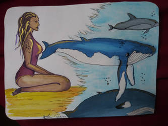 Whale Girl by Bertriced