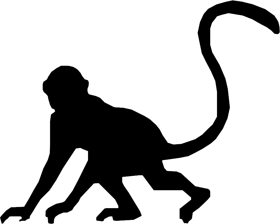 Monkey Silhouette Clip Art - Bing images