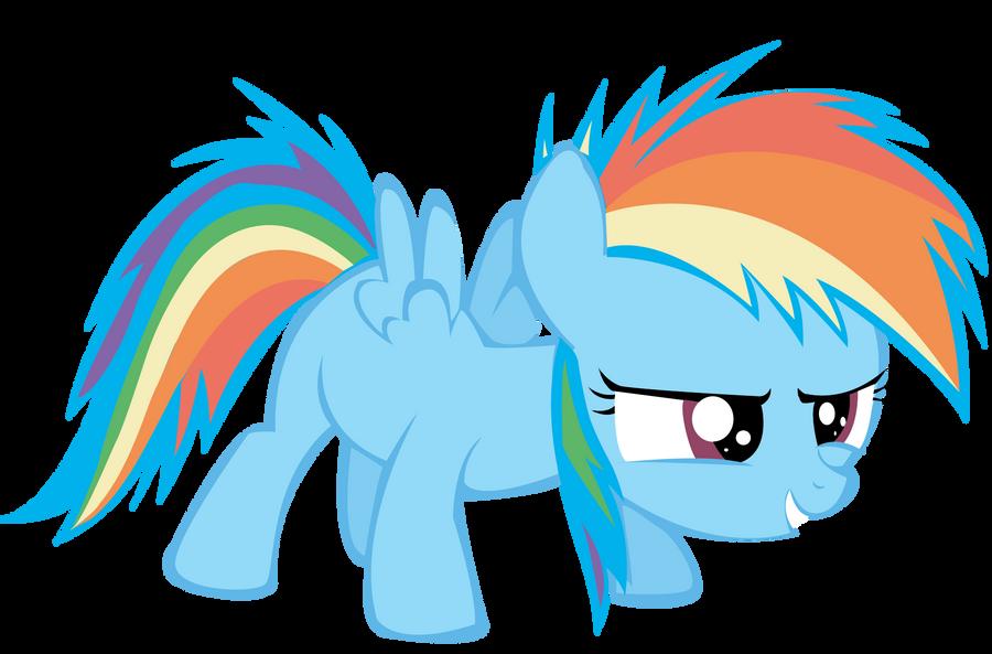 Filly Rainbow dash vector by PinkiePieZ on DeviantArt