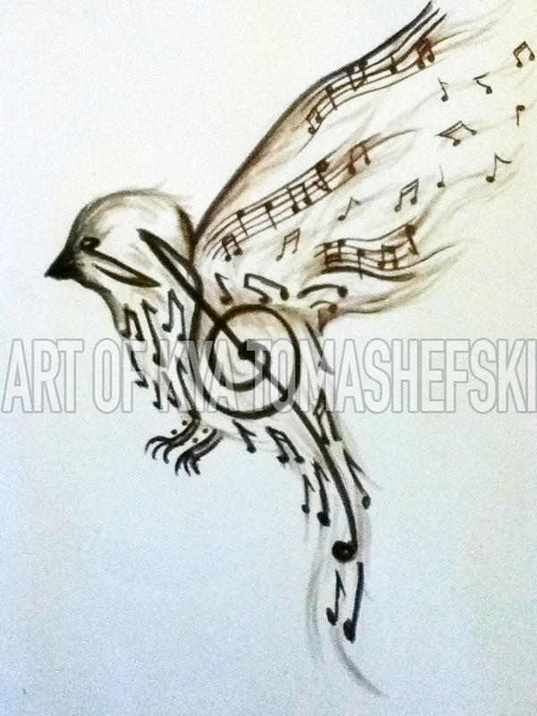 Music to My Ears tattoo design by Furzzy15
