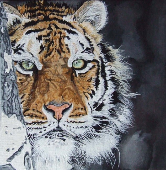 Amur tiger by Cosmic-Cherry-Tree