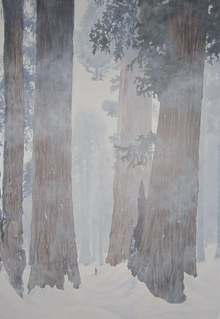Humble (Sequoias in the snow) by Cosmic-Cherry-Tree