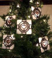 Companion Cube Ornaments by DarkeVitrum