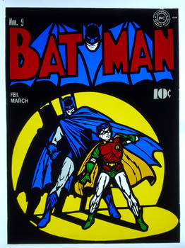 Batman No. 9 Stained Glass Panel