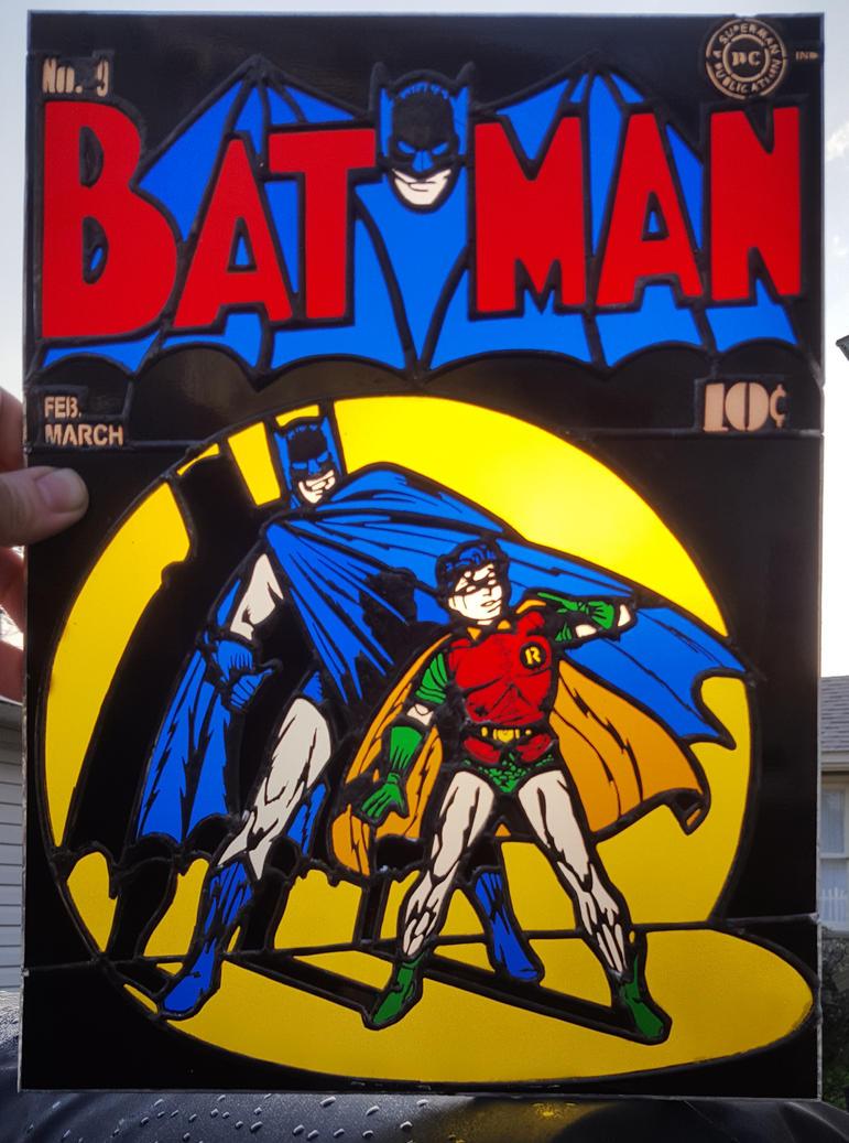 Stained Glass Batman Panel - Sunlit by DarkeVitrum
