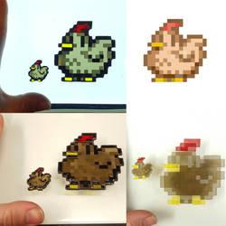 Stardew Valley Pixel Experiment 3 - Chicken by DarkeVitrum