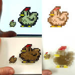 Stardew Valley Pixel Experiment 3 - Chicken