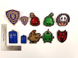 Stained Glass Pins - Take 2 by DarkeVitrum