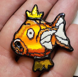 Stained Glass Magikarp Pin