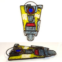 Borderlands 3 Stained Glass Claptrap Ornament
