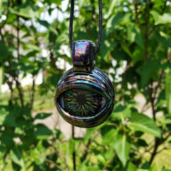 Black Lumi Glass Eye Pendant