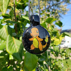 Charmander Dichro Glass Pendant