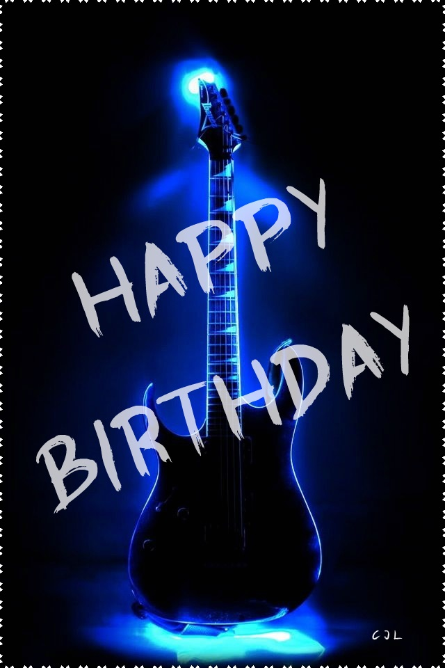 Electric Guitar Happy Birthday By Cjlutje On Deviantart