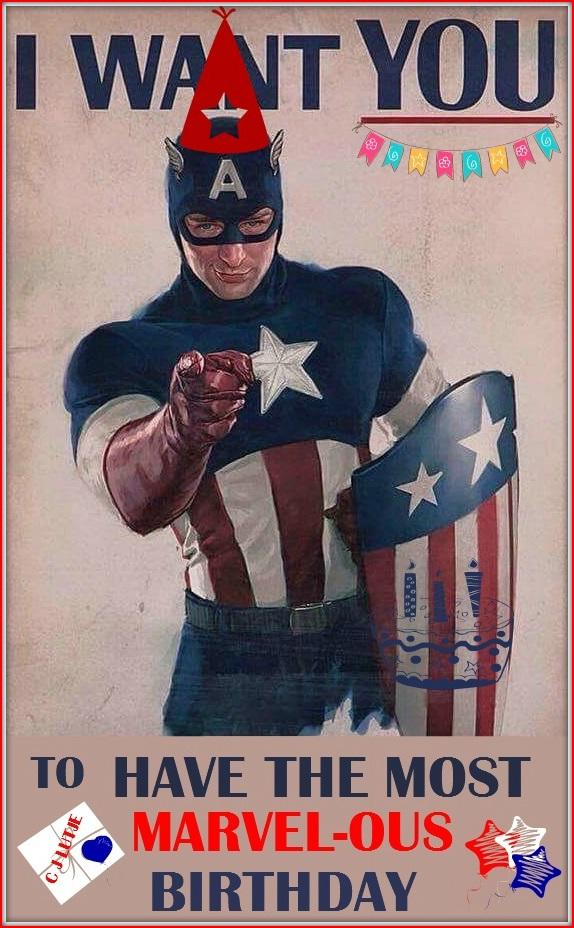 Captain America Happy Birthday Images