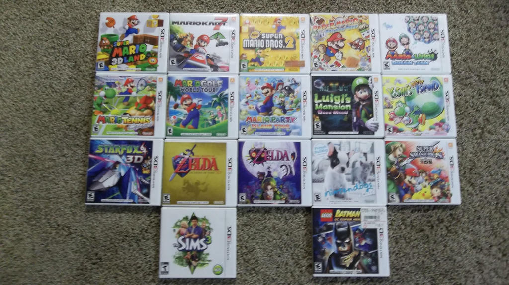 My Nintendo 3DS Games by PTG911 on DeviantArt