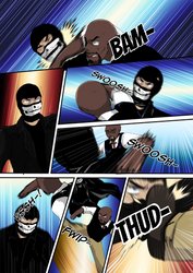 Commissioner Watts Versus Jax (Colored) by H-Voltage