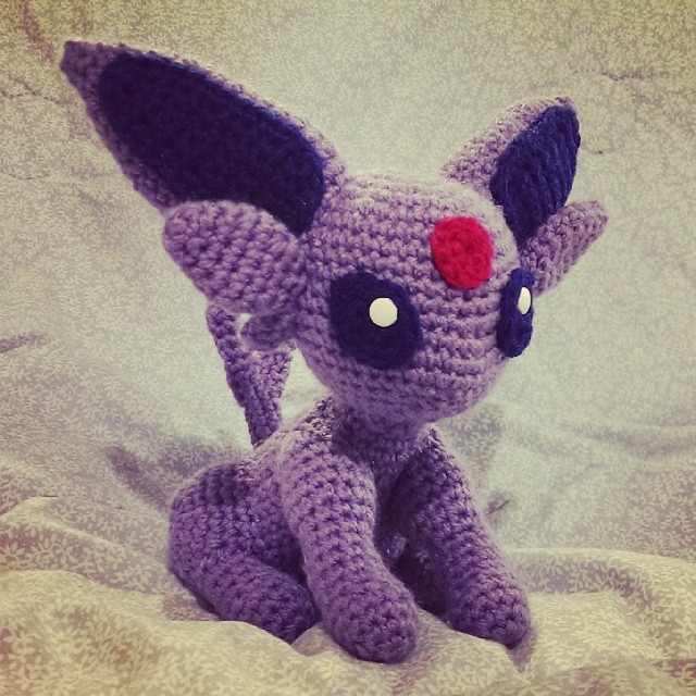 Amigurumi Crochet Pattern Etsy : Espeon (Amigurumi) by SirPurlGrey on DeviantArt
