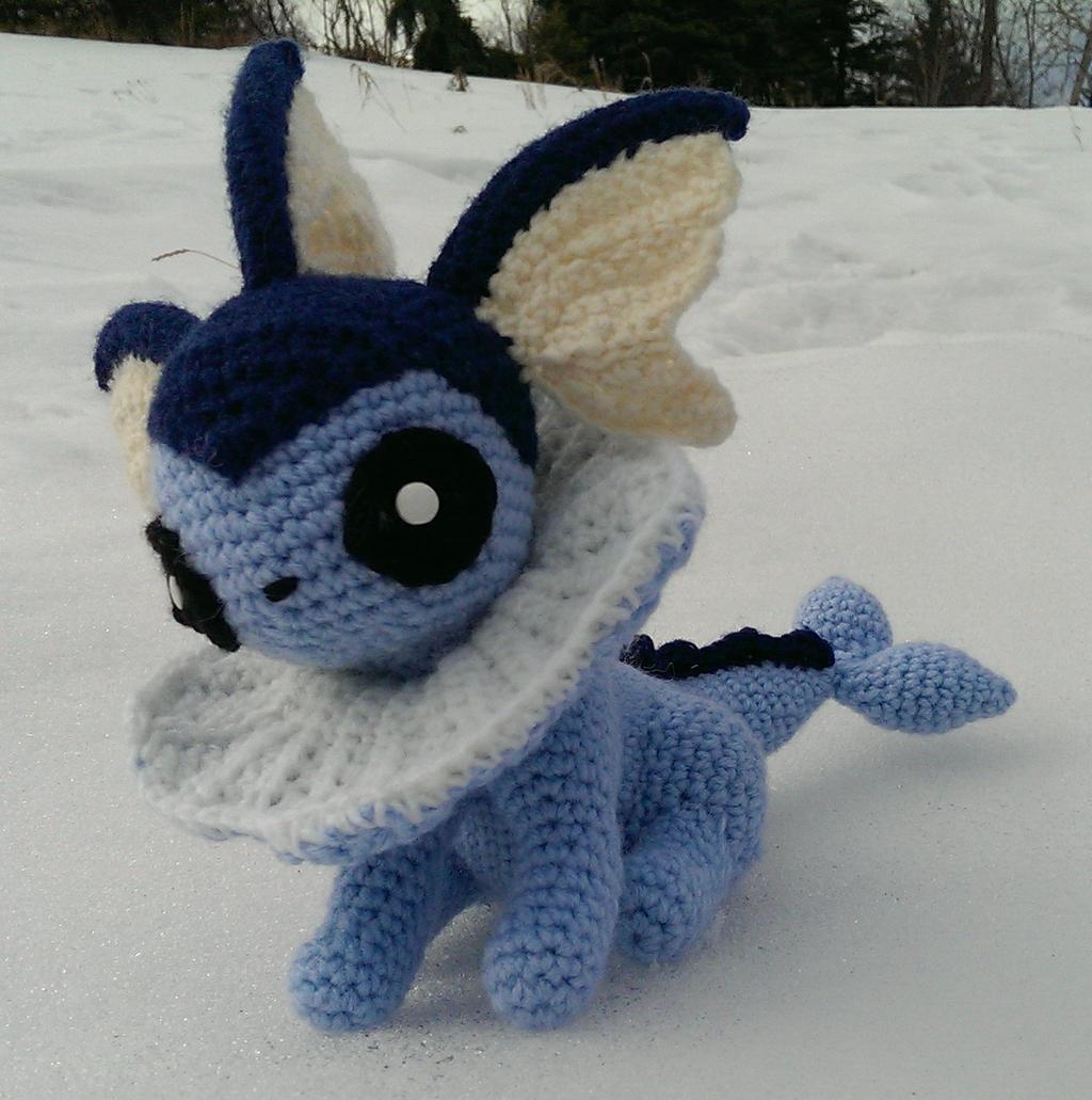 Amigurumi Crochet Pattern Etsy : Vaporeon (Crochet) by SirPurlGrey on DeviantArt