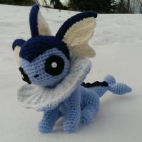 Vaporeon (Crochet) by SirPurlGrey