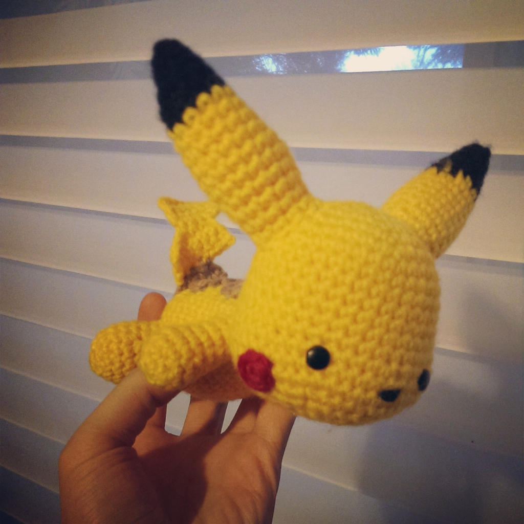 Knitted Pikachu Pattern : Pikachu (Crochet) by SirPurlGrey on DeviantArt