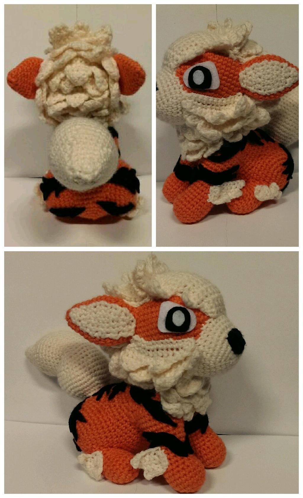 Arcanine Crochet by SirPurlGrey