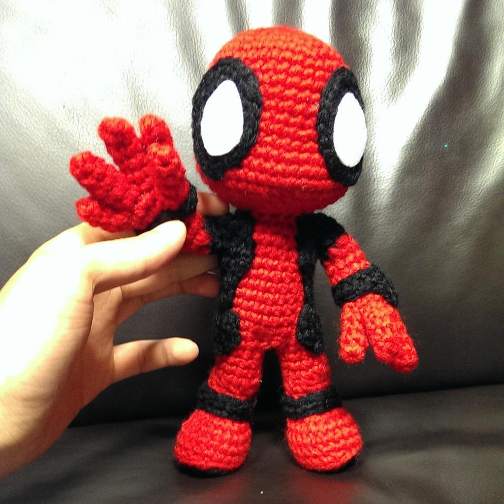 Crochet Wedding Dress Pattern Doll : Deadpool (WIP) by SirPurlGrey on DeviantArt