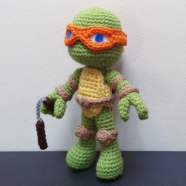 Crocheting With Mikey : Michaelangelo (Crochet) by SirPurlGrey on DeviantArt