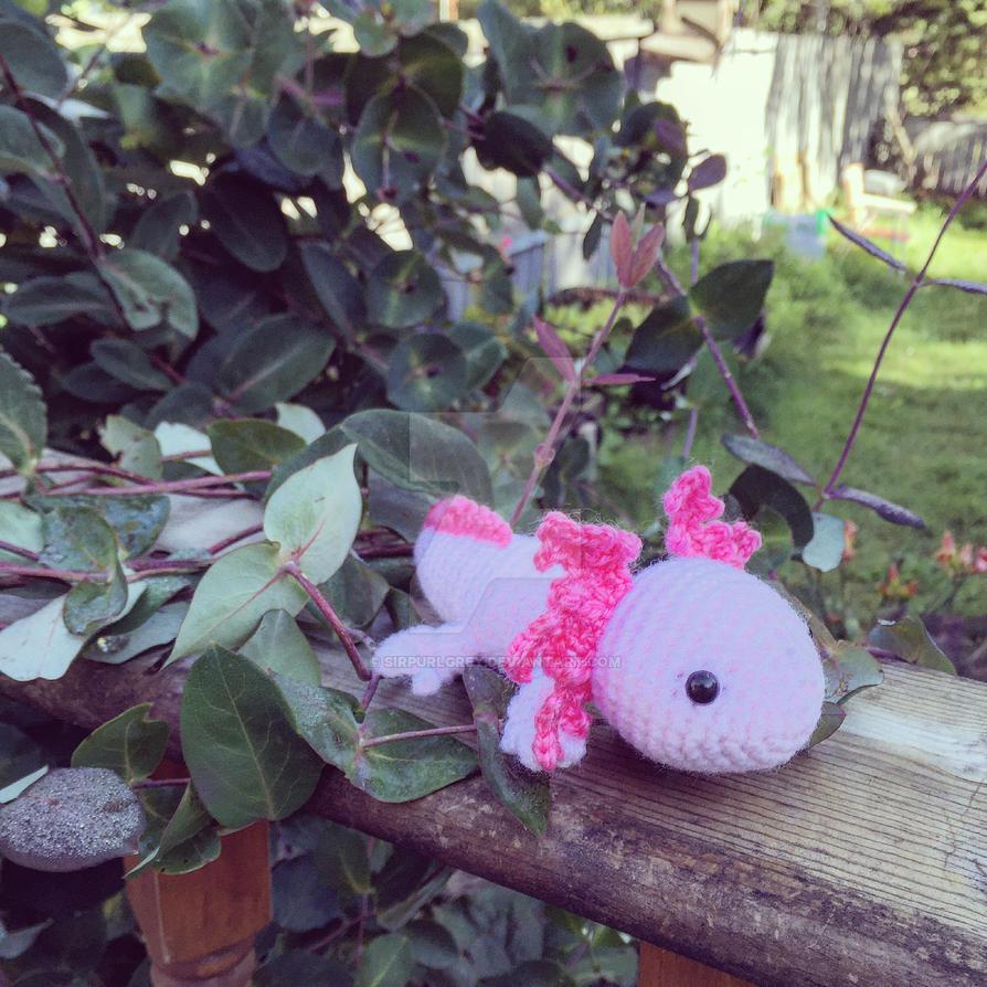 Axolotl Crochet Amigurumi by SirPurlGrey