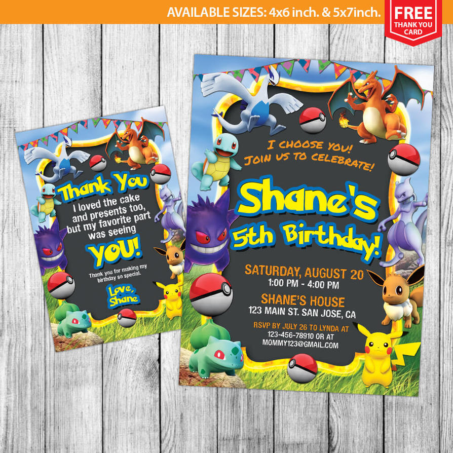 pokemon invitations pokemon birthday by mrgeniusinvites on deviantart