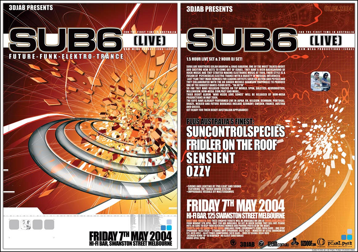 SUB6 A5 Flyer by edit-dsn