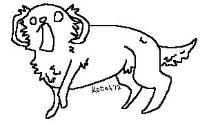 Derp  Dog Lineart by kotahs-orphans
