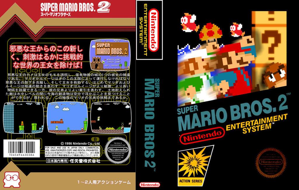 Super Mario Bros 2 Nes custom game box art by