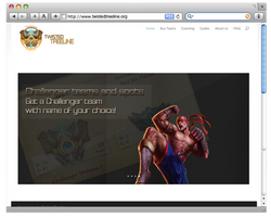 first webdesign about League of Legends stuff by likejohn