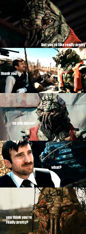 District 9+Mean Girls by noctumowl