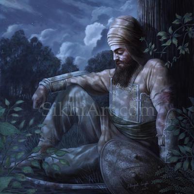 Guru Gobind Singh on Horse Guru Gobind Singh Machhiwara