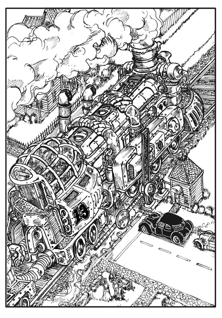 Big Locomotive by VincentBryantArt