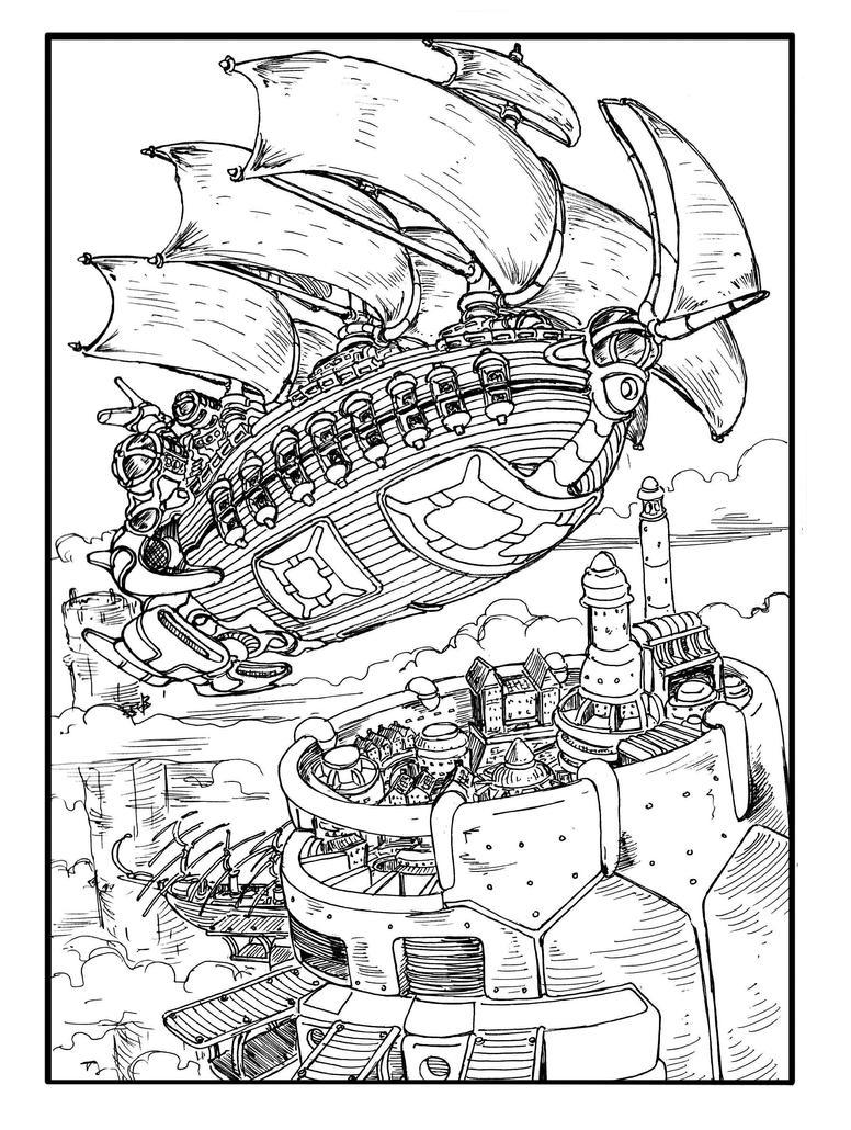 The Merchant Ship by VincentBryantArt