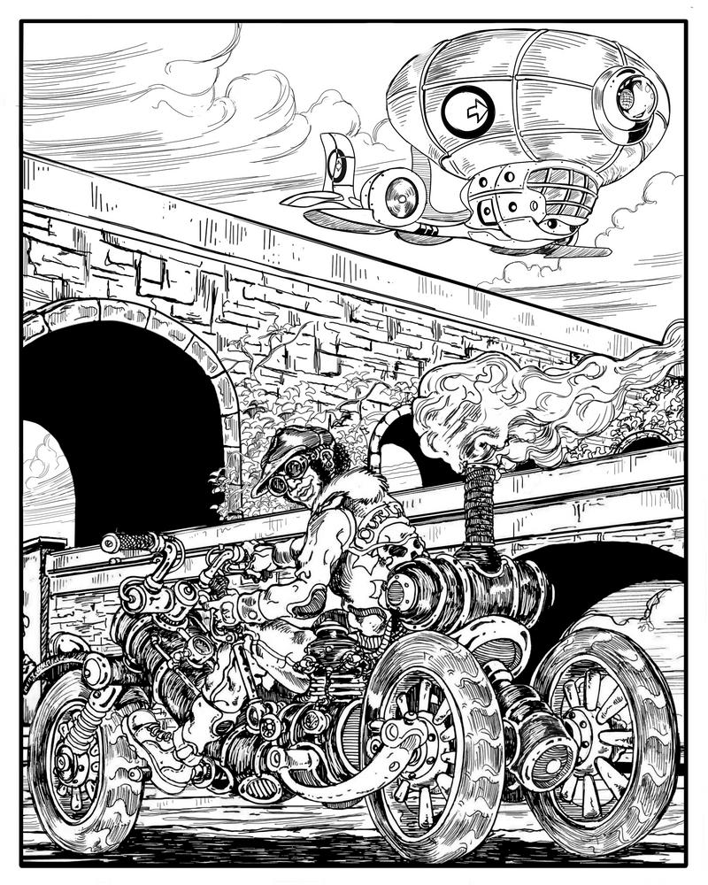Steampunk Trike by VincentBryantArt