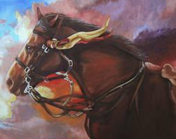 War Horse by slakerart