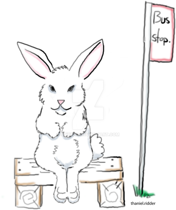 rabbit bus stop by stipend on DeviantArt