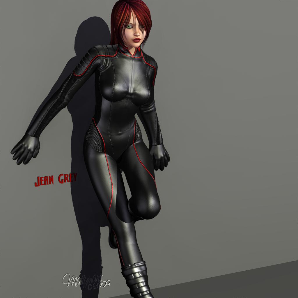 Jean Grey - Poser 8 version by mattymanx
