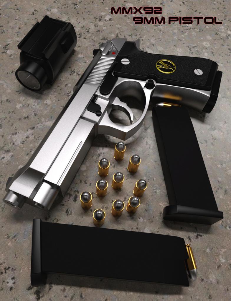MMX92 9MM Pistol by mattymanx on DeviantArt