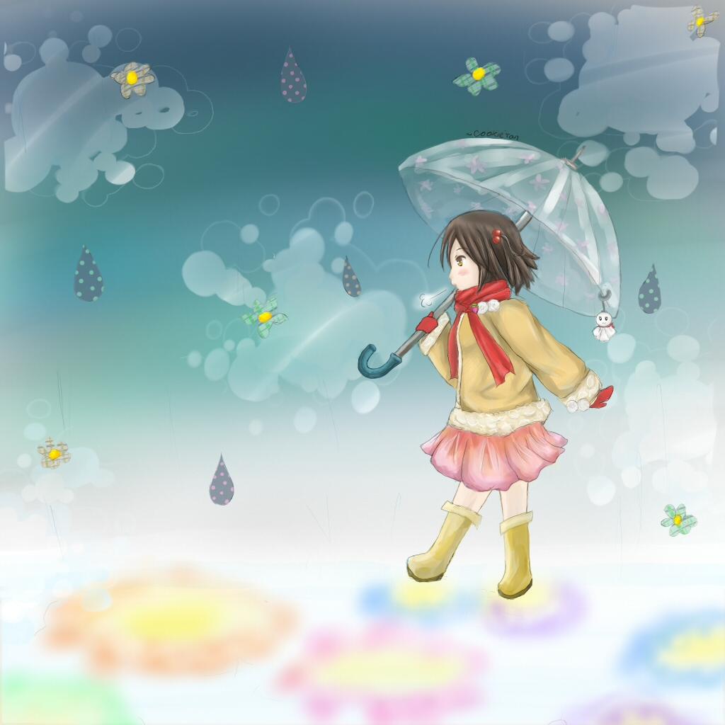 Steps in the rain by xCookieTan