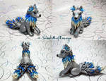 Silver and Blue Fantasy Wolf Alpha