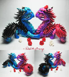 Romantic Oriental Dragon Couple