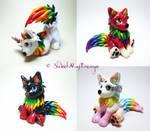 Rainbow Wolf Puppies